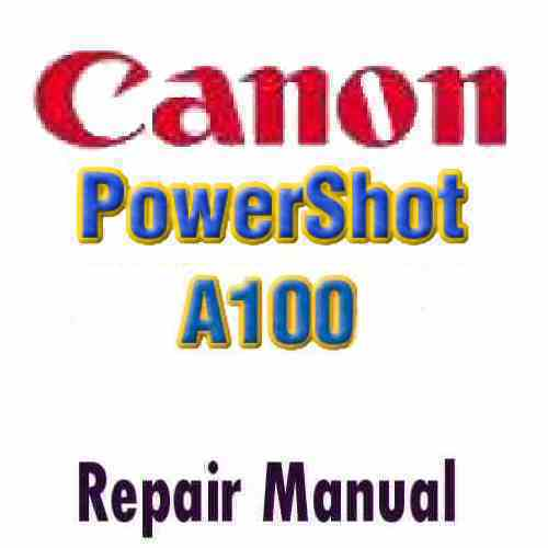 Canon PowerShot A100 Service Manual PDF