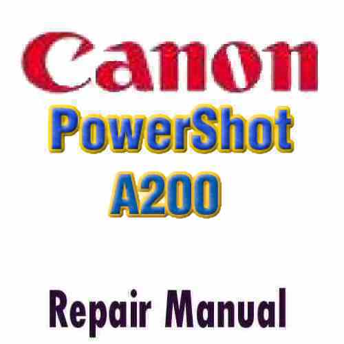 Canon PowerShot A200 Service Manual PDF