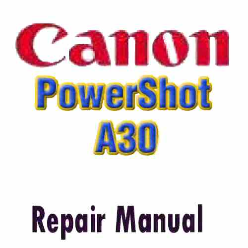 Canon PowerShot A30 Service Manual PDF