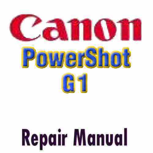 Canon PowerShot G1 Service Manual PDF