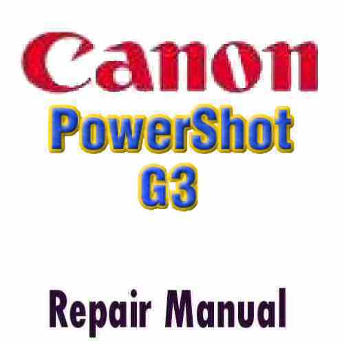 Canon PowerShot G3 Service Manual PDF