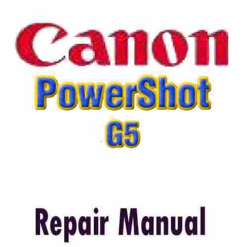 Canon PowerShot G5 Service Manual PDF