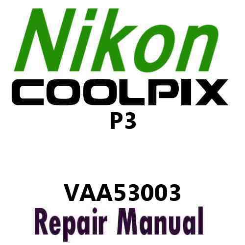 Nikon Coolpix P3 Service Manual PDF