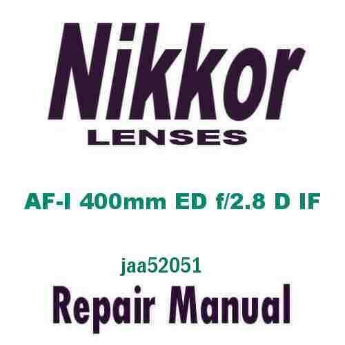 Nikkor Lens ED 400mm f/2.8 D IF