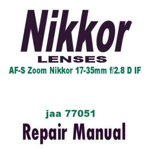Nikkor Lens AF Zoom 17-35mm f/2.8 D IF