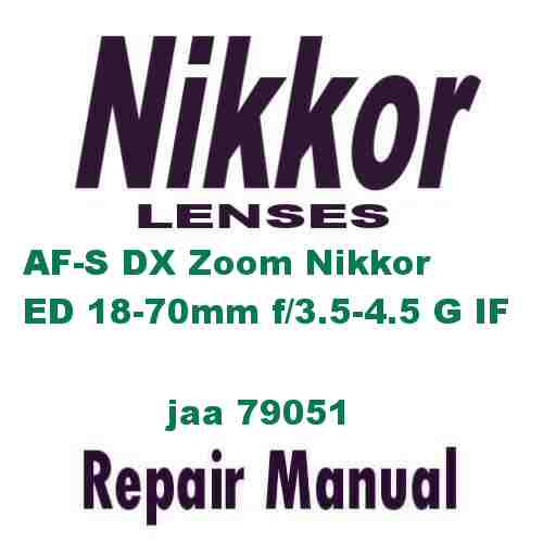 Nikkor Lens AF=S DX Zoom ED 18-70mm f/3.5-4.5 G IF