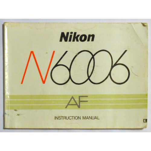 N6006 Instruction Manual