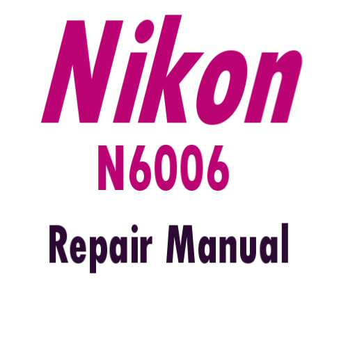 N6006 Data back Repair Manual