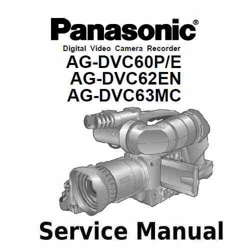Panasonic Camera Service Manual AG-DVC60P/E