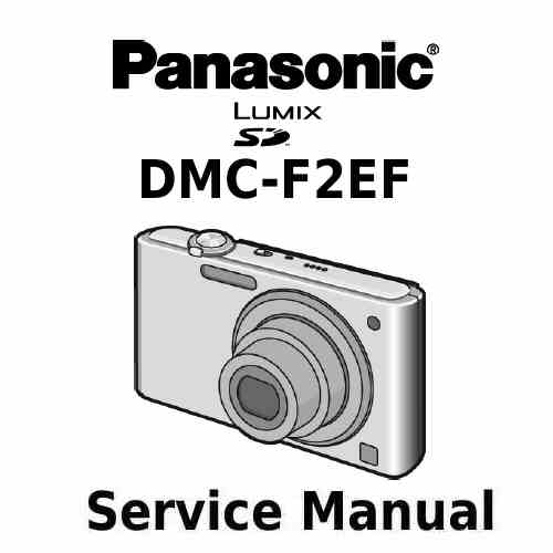 Panasonic Camera Service Manual F2EF