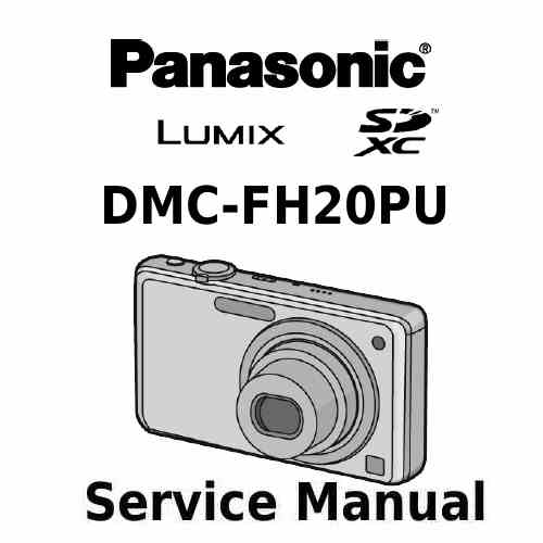 Panasonic Camera Service Manual FH20PU