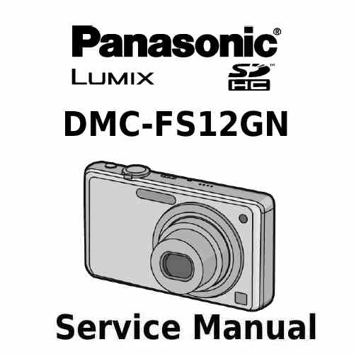 Panasonic Camera Service Manual FS12GN
