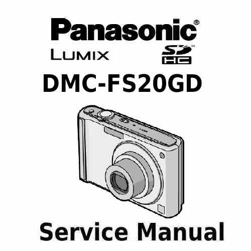 Panasonic Camera Service Manual FS20GD
