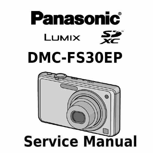 Panasonic Camera Service Manual FS30EP
