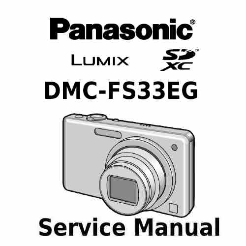 Panasonic Camera Service Manual FS33EG