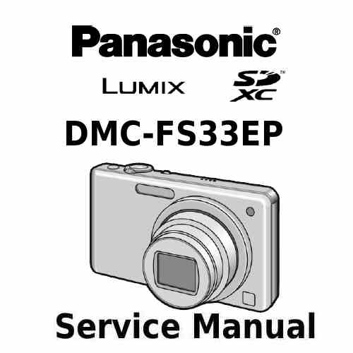 Panasonic Camera Service Manual FS33EP