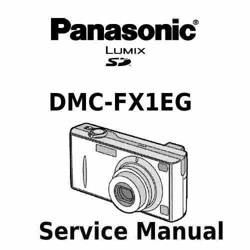 Panasonic Camera Service Manual FX1EG