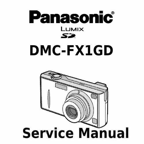 Panasonic Camera Service Manual FX1GD