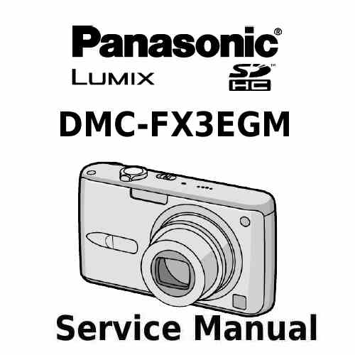 Panasonic Camera Service Manual FX3EGM