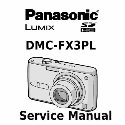 Panasonic Camera Service Manual FX3PL