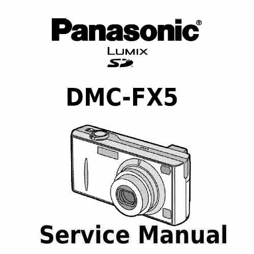 Panasonic Camera Service Manual FX5