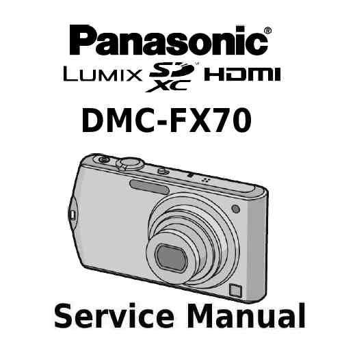 Panasonic Camera Service Manual FX70