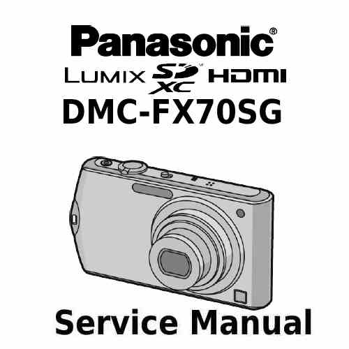 Panasonic Camera Service Manual FX70SG