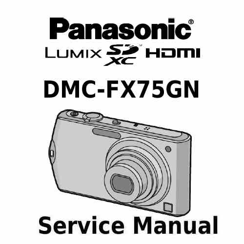 Panasonic Camera Service Manual FX75GN