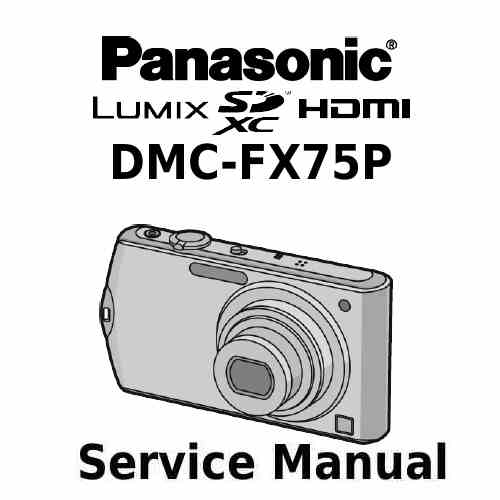 Panasonic Camera Service Manual FX75