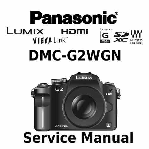 Panasonic Camera Service Manual G2WGN