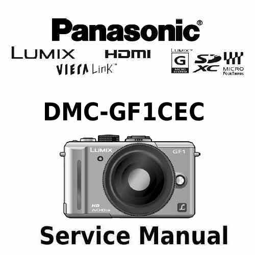 Panasonic Camera Service Manual GF1CEC