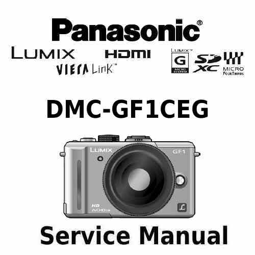 Panasonic Camera Service Manual GF1CEG