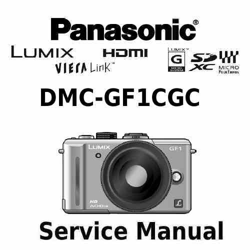 Panasonic Camera Service Manual GF1CGC