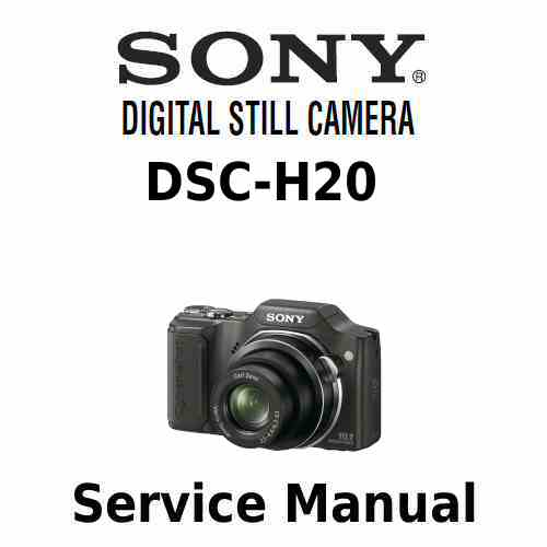 Sony Cybershot DSC H20 Service Manual PDF [sony cybershot DSC-H20 xcz ...