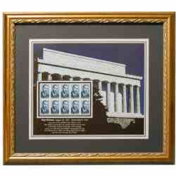 Roy Wilkins Stamp set Framed Print
